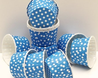Candy Nut Cups, Carnival Blue Dot Cups, Cupcake Cups,Carnival, Circus, Party, Wedding,Favors, True Blue, Circus, Cute, Fun, Birthday, Boys