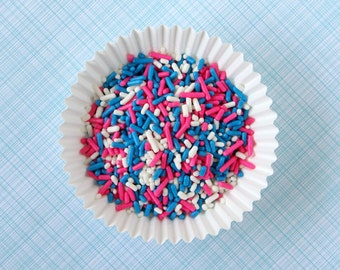 Pink and Blue Jimmies - Gender Reveal Party Sprinkles (4 oz) - Cookies, Cakes, Cupcakes