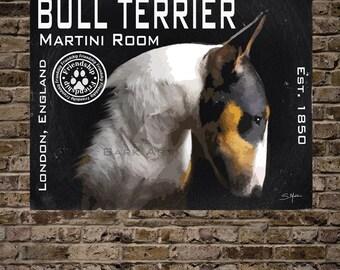 Bull Terrier Martini Room