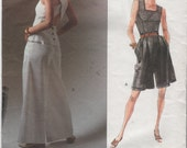 2499 Vogue Betty Jackson Designer Uncut Sewing Pattern Easy Misses Top Shorts and Pants 6, 8,10