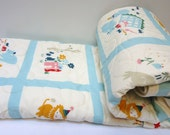 Baby Quilt-Organic Modern Birch Fabric-Everyday Party-Crib Bedding-All Natural Gender Neutral-Animal Baby Blanket
