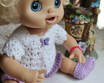 2 PDF PATTERN Crochet 16 17 inch Hasbro Baby Alive My Baby Alive Doll Short Jacket Dress Set