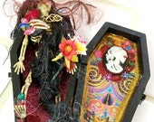 On Sale Now Day of theDead COFFIN & SKELETON FIGURE