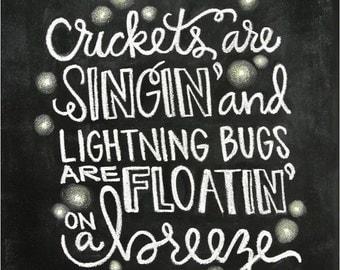Lightning bug etsy for Fishing in the dark lyrics