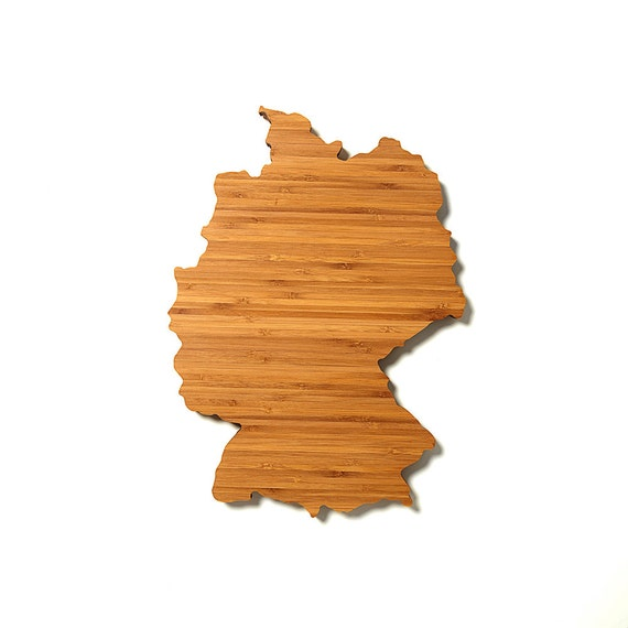 Personalized Cutting Board Gourmet Holiday Gift Germany Shaped Cutting Board In BambooCustomized Cutting Board