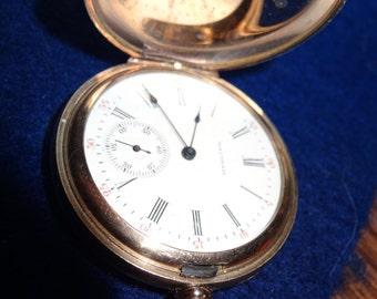 Stunning Ladies 6 Size 15 Jewels Waltham Hunting Case Pocket Watch