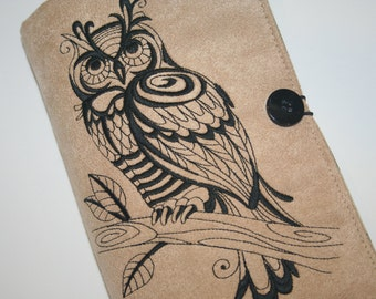 Owl Outline Embroidered Book Cover