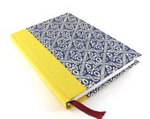 Weekly Planner 2016 blue wax batik yellow spine