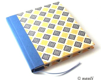 blue yellow journal diary Diary / Notebook / Poetry Album, blank book