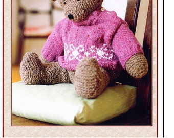 SALE*** KNITTING PATTERN - Teddy Needs a Hug! Pattern for Bear and Sweater