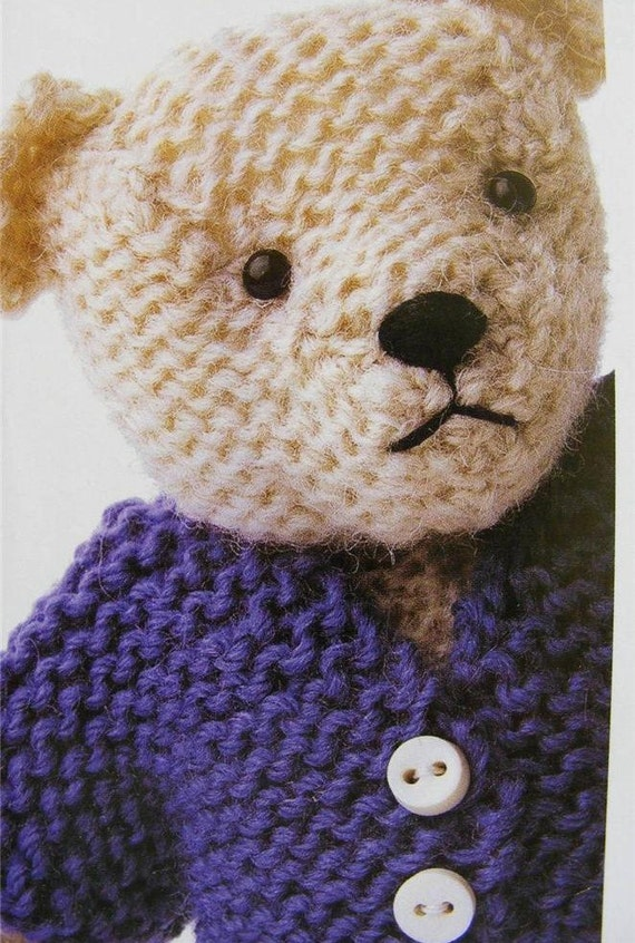 PDF Knitting PATTERN TEDDY Bear Baby by carolrosa on Etsy
