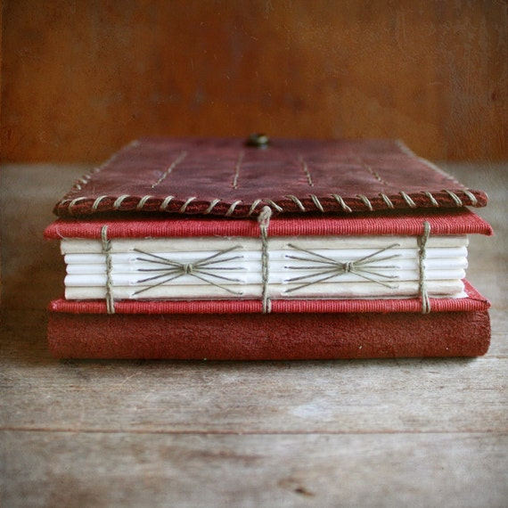 Leather Artist Journal, Refillable Art Book and Pencil Holder for Watercolor Artist