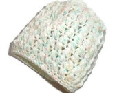 Crossed Puff Stitch - Newborn to 3 Month Size Candy Print or Made in Your Choice of Color