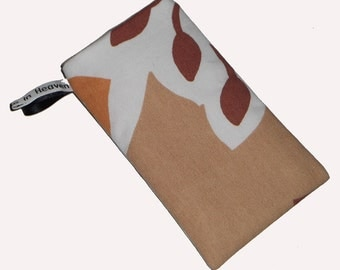 Brown Retro Inspired Mobile Cellphone Ipod Gadget Case Pouch Sock PADDED - Christmas Gift dea