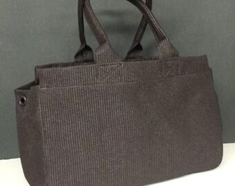 Mesh Tote Bag Large Dark Brown