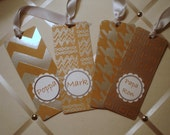 Kraft and Silver Foil Bookmarks
