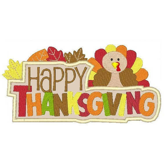 Thanksgiving machine embroidery design happy by embroidalot