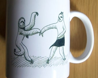 Swing Dancing Sloths Couple Mug