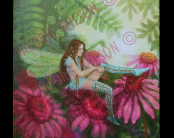 """10"""" x 10"""" unframed giclee print with gallery wrapped sides from original artwork by Valorie Wilson."""