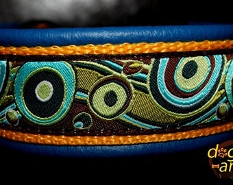 """Dog Collar """"Bubbles"""" by dogs-art, martingale collar, leather dog collar, dog collar, limited slip collar, colorful dog collar, hundehalsband"""