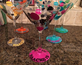Hand Painted Personalized Martini Glass