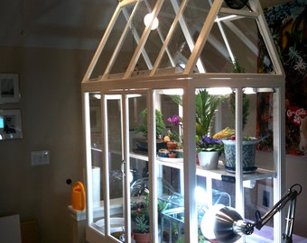 Popular items for indoor greenhouse on etsy for How to make a small indoor greenhouse