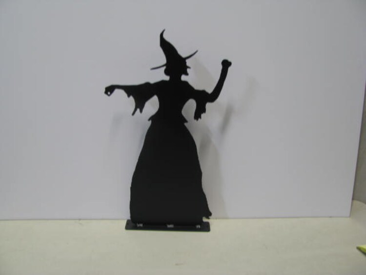 Halloween Witch Metal Wall Art Silhouette By Cabinhollow On Etsy
