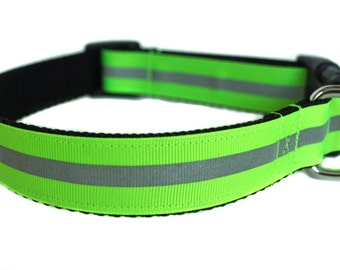Green Reflective Dog Collar
