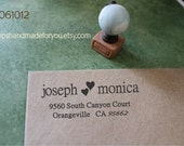 Personalized   Calligraphy  Custom Made Return Address Rubber Stamp great gift