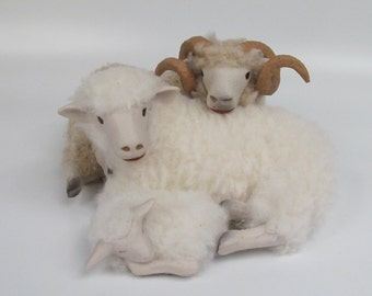 The Holy Family in Handmade Sheep Figurines from Colin's Creatures