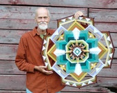 Dancing for God, a 32 inch, 12-sided, Ojo de Dios mandala, by custom order.