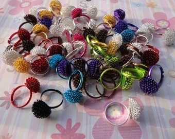 20pcs Adjustable Assorted Color Ring
