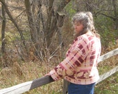 Beacon Blanket Pullover Shirt Hand Made Clothing OOAK Gift For Her Cabin Camping Jacket Glamping Clothes