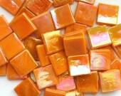 15mm Melone Orange Irisierende Glas-Mosaik-Fliesen Quadrat/Melone / / Mosaik / / Mosaik-Zubehör