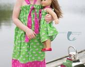 Easy Dress Pattern, Girls Halter Dress Patern, Halter Top pattern for girls, Shirt, 6m-8
