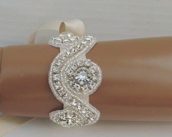 Bridal Bracelet, MARCIA, Rhinestone Bracelet, Crystal Bracelet