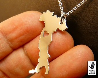 ITALY Handmade Personalized Sterling Silver .925 Necklace in a gift box