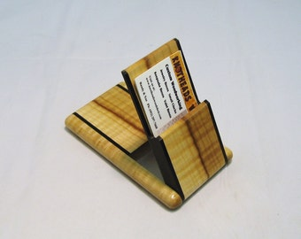 Business Card Case - Curly Maple with Ebony Trim