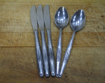 Interpur Silverware Made in Japan Knives and Spoons Stainless Steel