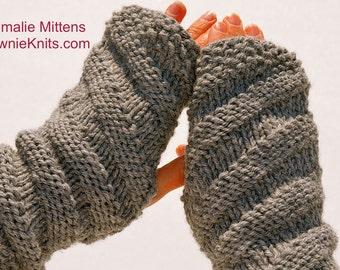 Emmalie Mittens: A Knit Pattern for a Fingerless Mittens