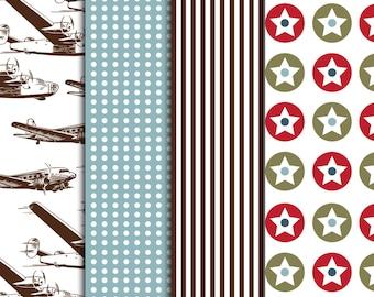 Vintage Airplane Pattern Sheets