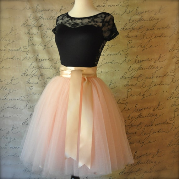 blush pink tulle skirt for by tutuschicoriginals on
