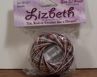 Handy Hands Lizbeth Size 20 100%  Cotton Thread Marble 20-121 Unopened