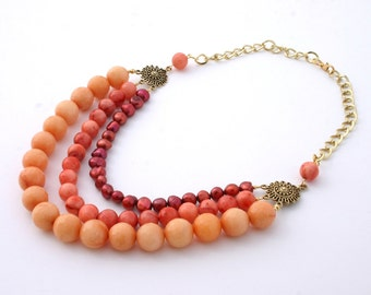 Colorful Multistrand Necklace