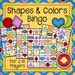 Printable Shapes and Colors Bingo game