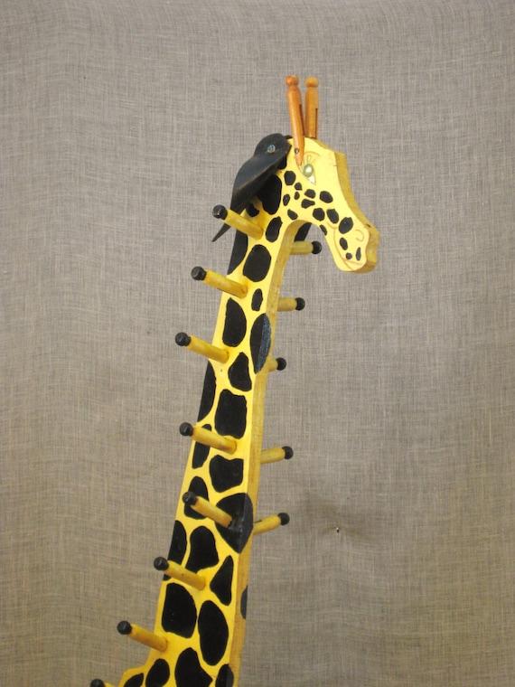 Vintage Folk Art Giraffe Childrens Coat Rack By Wilshepherd