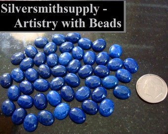 Lapis cabochon natural Afghanistan Lapis Lazuli oval cabochons 8x10mm cb010