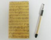 Parchment Music Notes Staff Print Matching Pocket 2013 - 2014 Calendar and Pen Gift Set