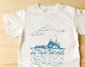 organic tractor tee . 6 months - 8 years . by Lund Studios