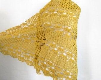 Mustard shawl / Women accessory / handmade gift / woman shawl / fashion accessories / cotton shawl